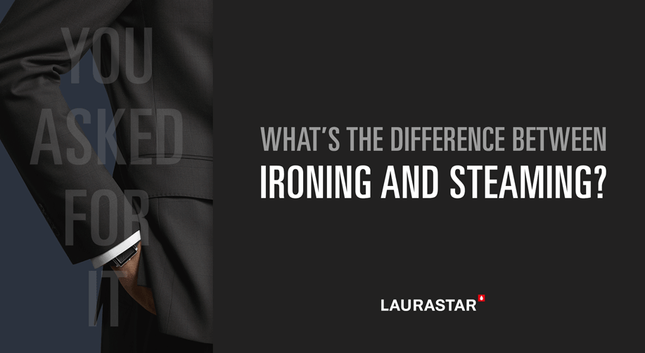 What's the difference between ironing and steaming?